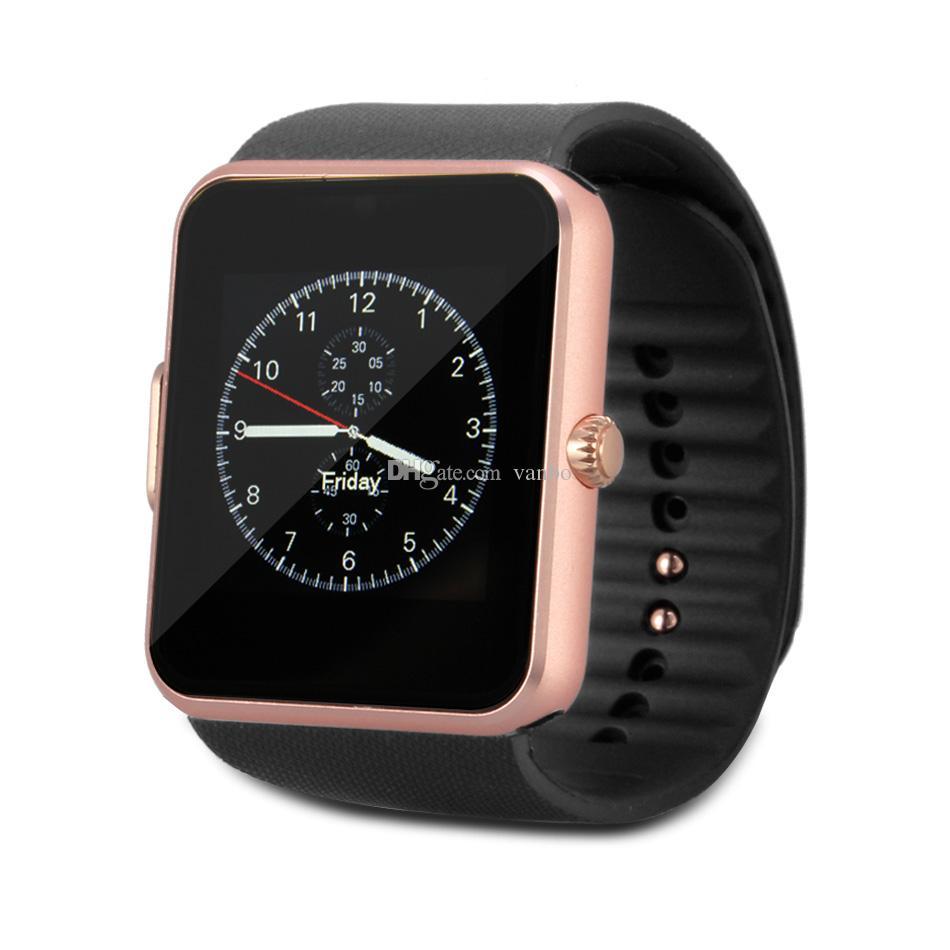 GT08 Bluetooth Smartwatch mit SIM-Kartensteckplatz NFC-Gesundheits-Uhren für Android Samsung und Apple iPhone Smartphone Smart Uhren mit Box