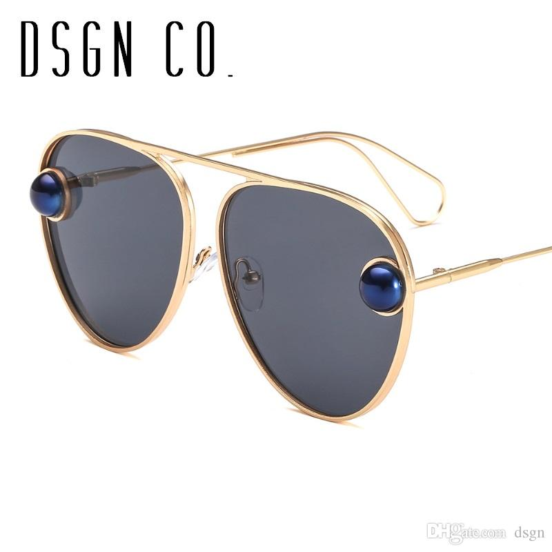 304280bdec Luxury Pearl Designer Sunglasses For Women Pilot Brand Stylish Fashion  Woman Glasses UV400 Glasses Online Polarized Sunglasses From Dsgn
