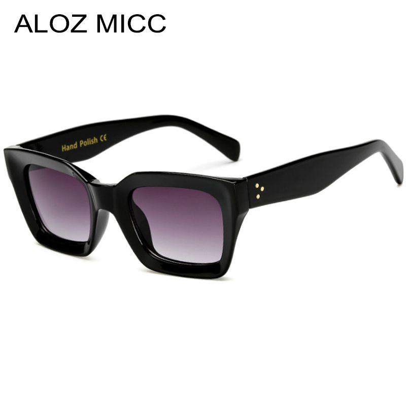 Compre ALOZ MICC Preto Quadrado Óculos De Sol Das Mulheres Da Marca Retro  Acetato Óculos De Sol Dos Homens Óculos Limpar Leopardo Eyewear UV400 Q177  De ... 6df1c4743c