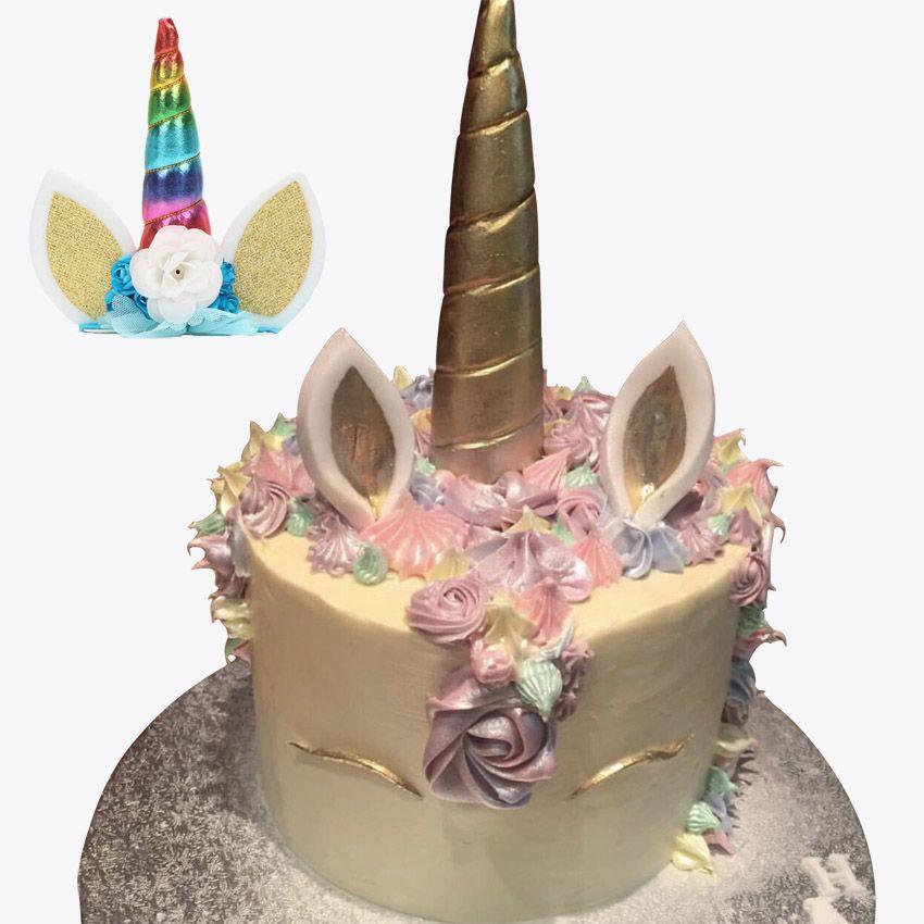 2019 Unicorn Party Headband Unicornio Cake Topper Christmas Wedding