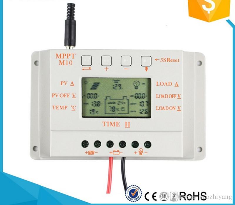 M10-12V24V10A solar charger controller Automatic identification of battery voltage PWM LCD battery electric power display