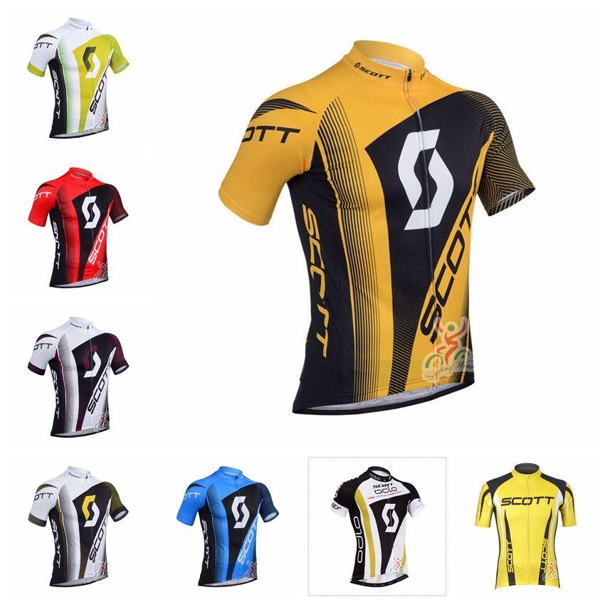 db8565fbe 2018 SCOTT Men S Cycling Clothing Bicycle Jersey Sportswear Tour De France Short  Sleeve Bike Tops T Shirts 92117Y Mens Shirts Online Mens Shirts Uk From ...