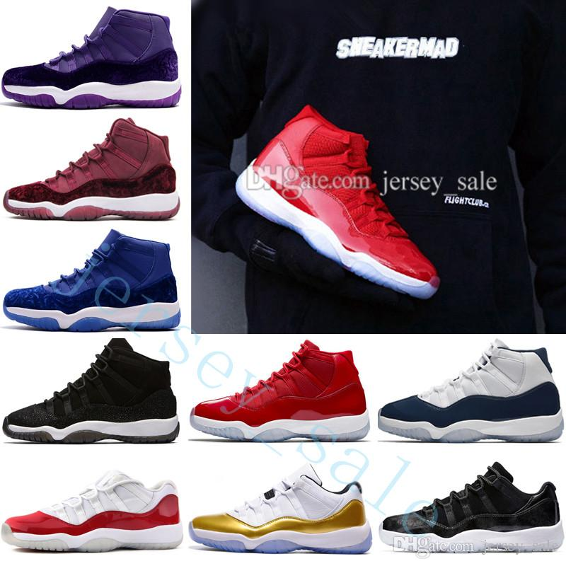 super popular eb1ab a6c03 2018 Cheap New 11 Gym Red Space Jam 45 Chicago WIN LIKE 82 96 Bred 72-10  11s Men Basketball Shoes Women Infrared 23 Concord Sports Sneakers