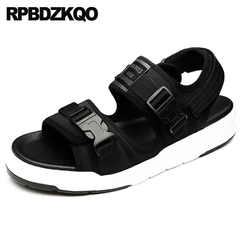 f36bbb7d2f51f0 Sneakers Men Japanese Strap Breathable Waterproof Runway Flat Black  Platform Shoes Mens Sandals 2018 Summer Outdoor Beach Water Shoes Uk Flat  Sandals From ...