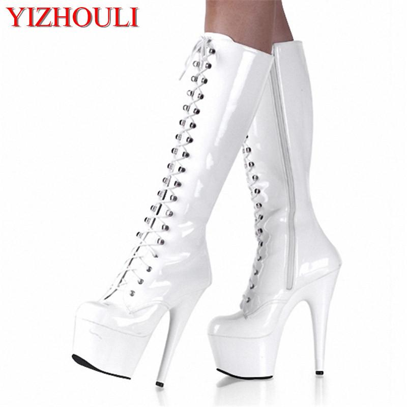 cc3e697463d Sexy Clubbing Pole Dancing Knee High Boots 6 Inch High Heel Shoes Winter  Fashion Sexy Warm Long 15cm Zip Platform Women Boots Buy Shoes Online Suede  Boots ...