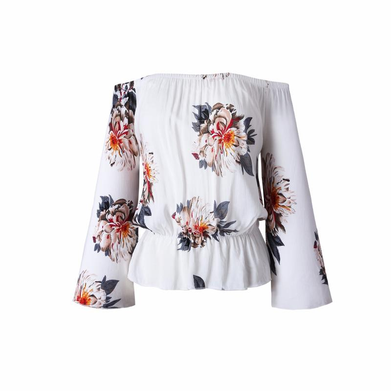 2017-Summer-Beach-Casual-Print-Floral-Chiffon-Blouse-Shirt-Long-Flare-Sleeve-Women-Blouses-White-Backless