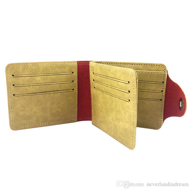 Marshmello Anime Design Short Leather Wallet Fashion Money Clip Men Women Money Bag for Gift