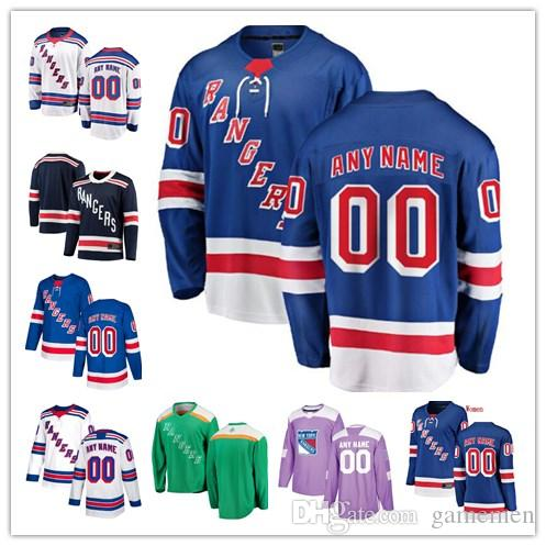2019 Custom New York Rangers Henrik Lundqvist Brady Skjei Mika Zibanejad Rick  Nash Any Name Any Number Mens Women Youth Stitched Jersey From Gamemen f1f03db19