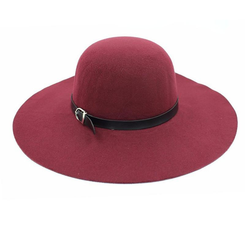a238040327f Spring Summer Winter Fashion Vintage Wide-Brim Fedoras Hats for ...