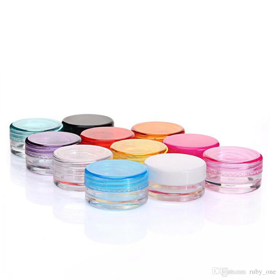 3g Mini Plastic Cream Bottle Empty Cosmetic Oil Cosmetic Container Refillable Make Up Cream Jar Sample Display Bottle OOA4924