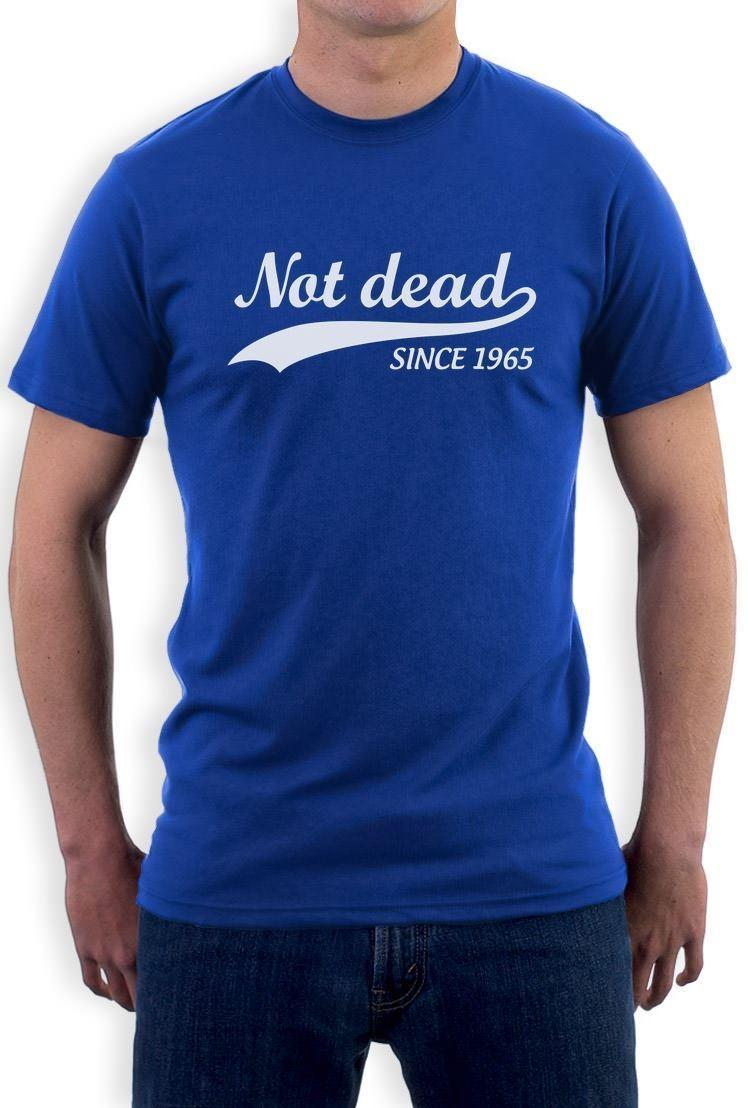Not Dead Since 1965 Sarcastic Funny 50th Birthday T Shirt Gift Idea Metal Shirts Cotton From Blastgear 1101