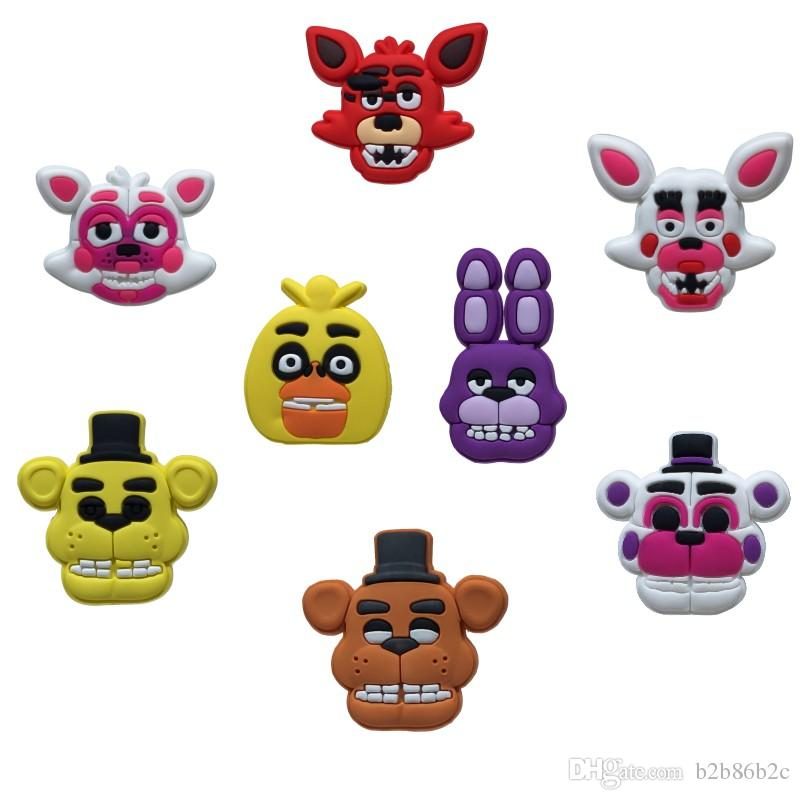 Delivery Moogle Birthday Card Final Fantasy Themed: 2018 Five Nights At Freddy'S Cartoon PVC Brooches Clothes