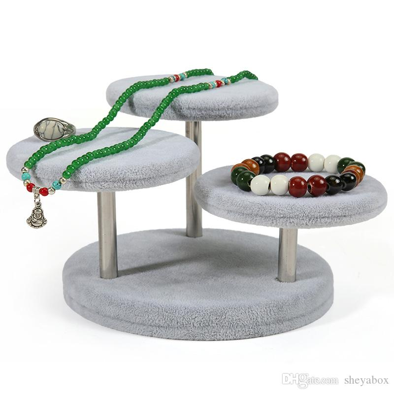 Multi Function Jewelry Display Riser Table for Boutique Shop Counter Shelf Jewellery Necklace Rings Bangles Watches Exhibition Stand