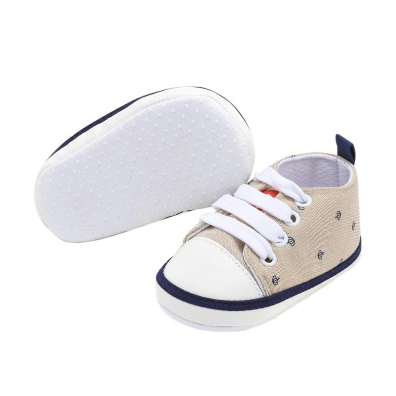 New Classic Sports Sneakers Newborn Baby Boys Girls Canvas First Walkers  Shoes Infant Toddler Soft Sole Anti Slip Baby Shoes UK 2019 From Begonior e0e83c3c3a9b