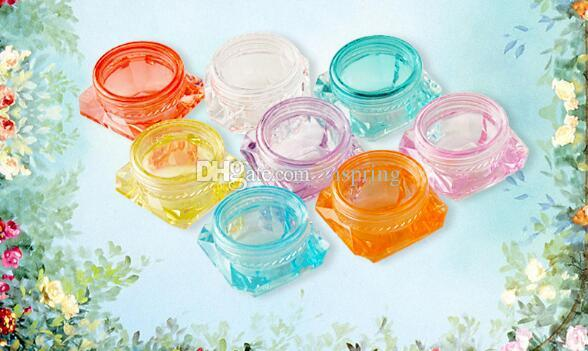 3g & 5g Diamond Shape Cosmetic Containers Colored Empty Sample Containers Jar Skin Care Cosmetic Cream Jars Pot Tins