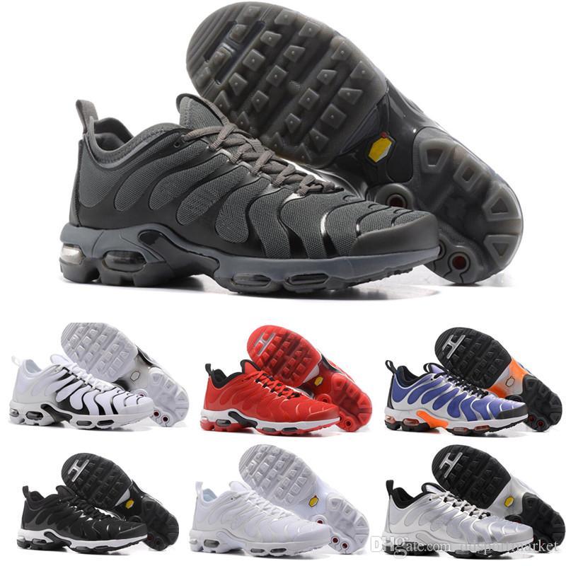 size 40 84bb0 ebf8d Acquista New Vapormax Tn Plus Olive Uomo Scarpe Da Corsa Sportive Sneakers  Uomo Run In Metallic Bianco Argento Colorways For Male Shoe Pack Triple  Black A ...