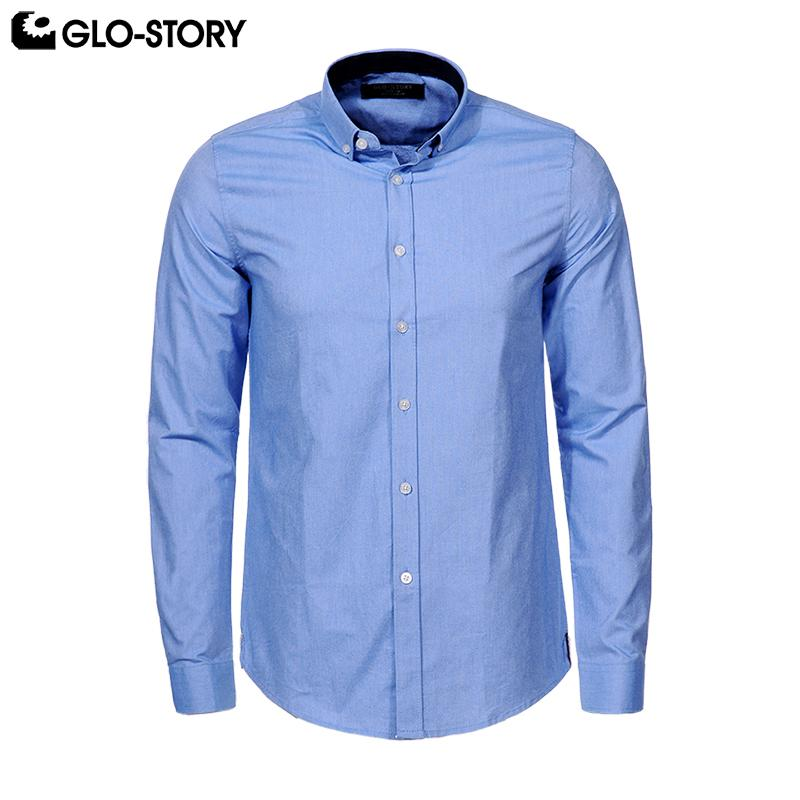 b822401c4ec 2019 GLO STORY Shipped From EU Men S 2018 Plus Size Long Sleeve Formal Dresses  Shirts Man Cotton Button Down Shirt Tops 6843 3XL 6XL From Xiayuhe