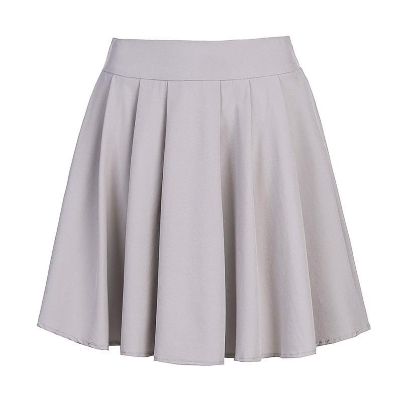 19646f4318b9f Sweet Women Pleated Skirt Sweet School Skirt Black Grey Color Women Girls  Dance Clothing Mini Skirts KH832347