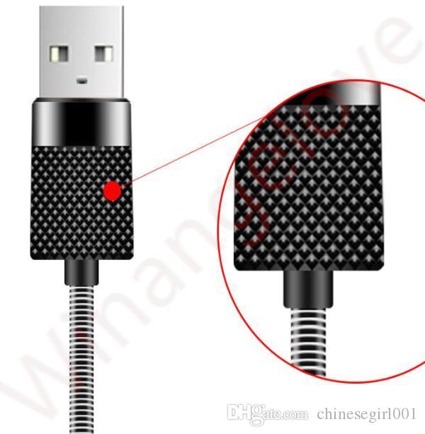 Cable de carga micro USB de 5A de aleación de acero inoxidable micro 5 pines para samsung s6 s7 edge