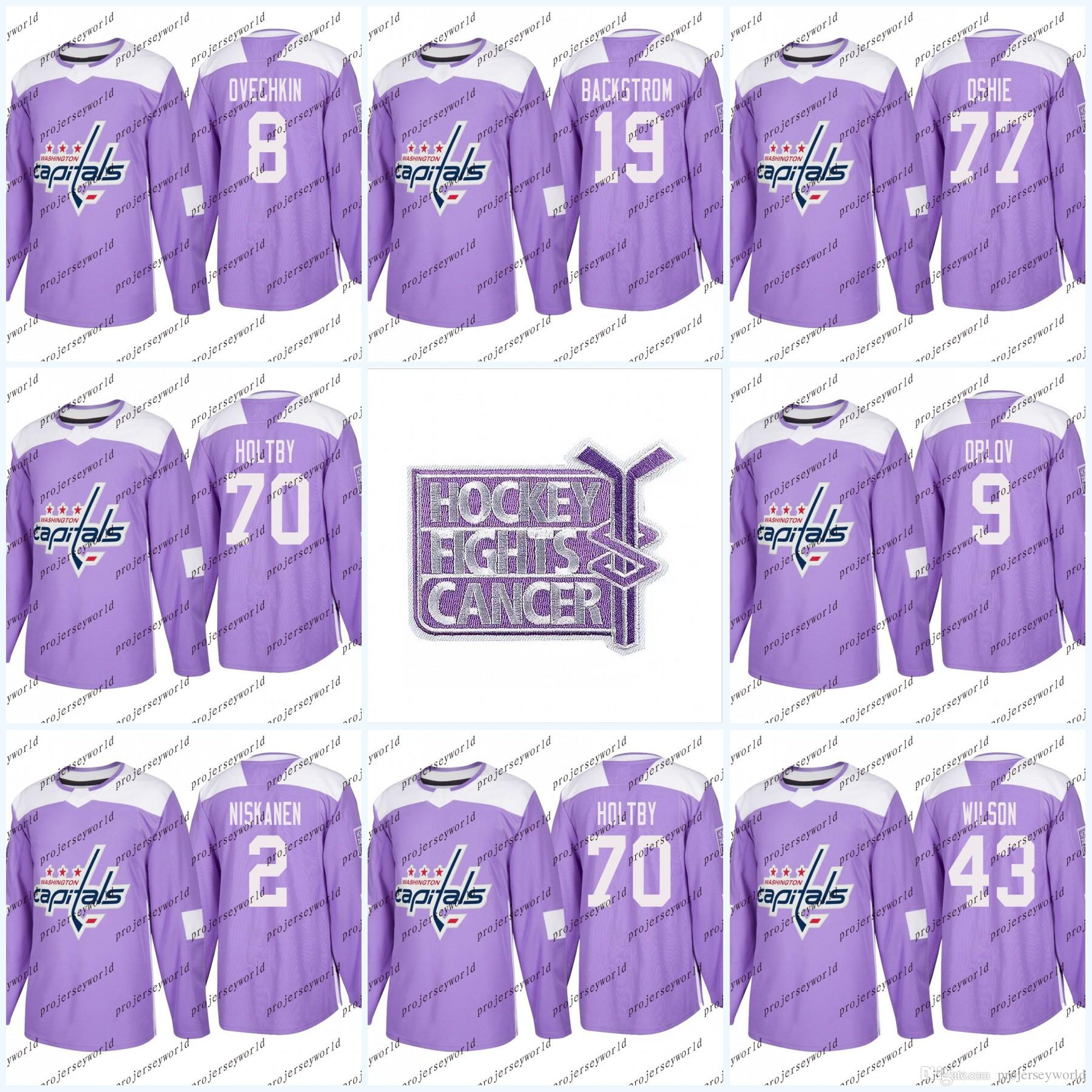 ef0dfcf6b ... reduced 2018 8 alex ovechkin purple fights cancer practice jerseys  washington capitals 77 tj oshie 19