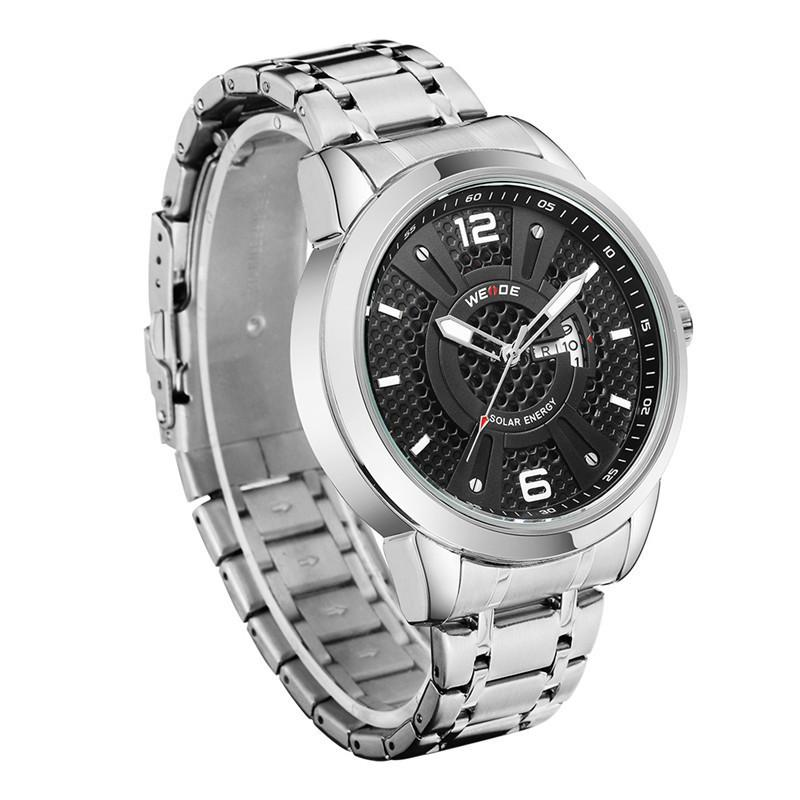 00f9c83f9b47 Compre WEIDE Solar Men Steel Watch Negocios De Moda Relojes Deportivos  Hombres Quartz LED Reloj Hombre Army Relojes De Pulsera 30M Impermeable A   37.76 Del ...