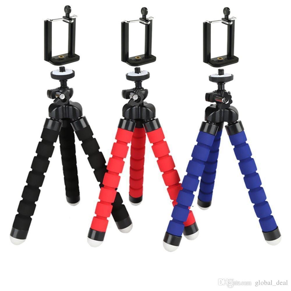 Mini Esnek Kamera Telefon Tutucu Esnek Ahtapot Tripod Braketi Standı Tutucu Dağı Monopod Şekillendirici Aksesuarları