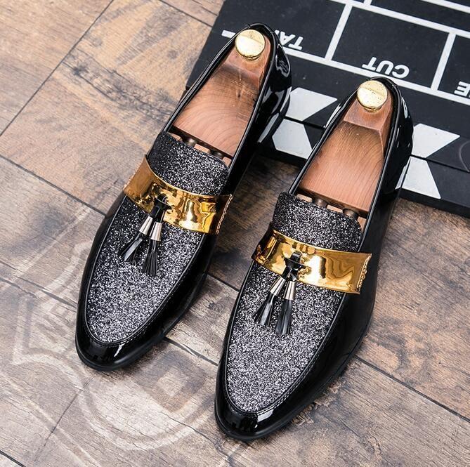 803c58761 Compre Marca De Design Elegante Homem Sapatos De Dedos Pontiagudos Cor  Misturada Sapatos De Couro De Escritório Carreira Sapatos Tamanho Grande 38  ~ 45 De ...