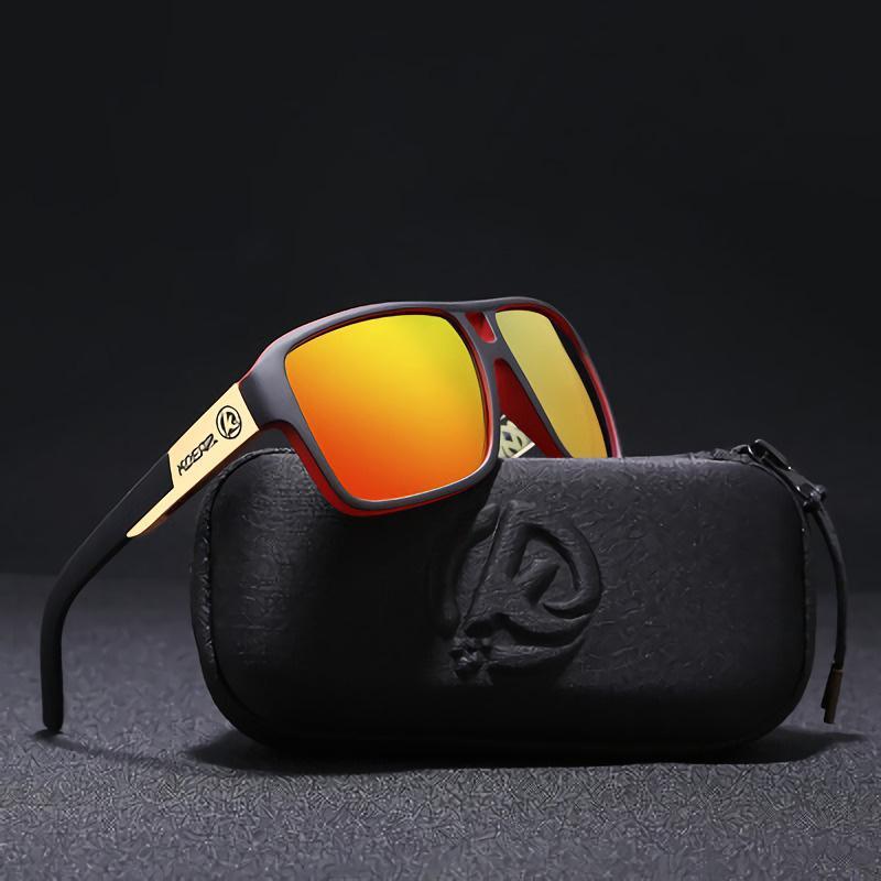 70c34fe4d5 Compre KDEAM Estilo Esportes Polarizados Óculos De Sol Dos Homens HD Condução  Óculos De Sol Polaroid Lente UV Óculos Quadrados Shades Masculino Gafas De  Sol ...