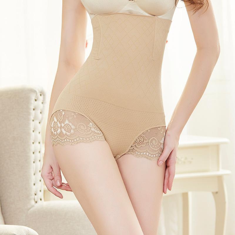 3c8d14fc3 Women Cotton High Waist Underwear Sexy Lace Woman Panties Shapewear ...