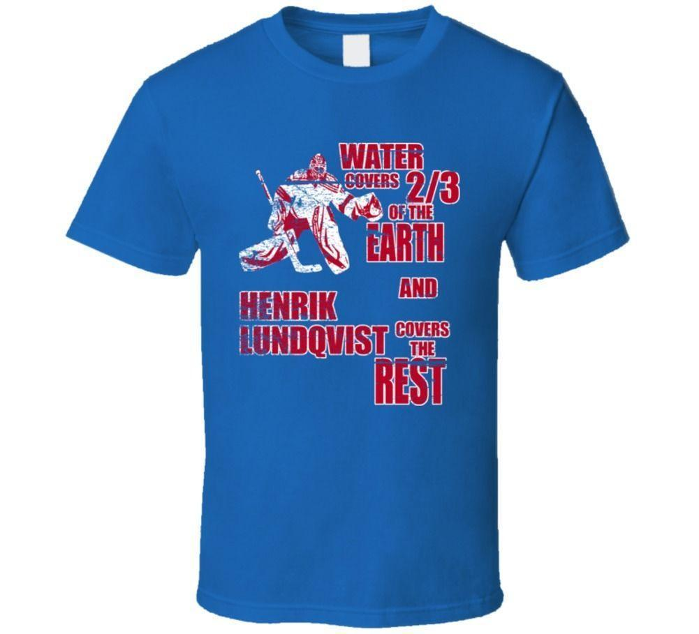 Henrik Lundqvist New York Hockey Goalie T Shirt Designer Shirts