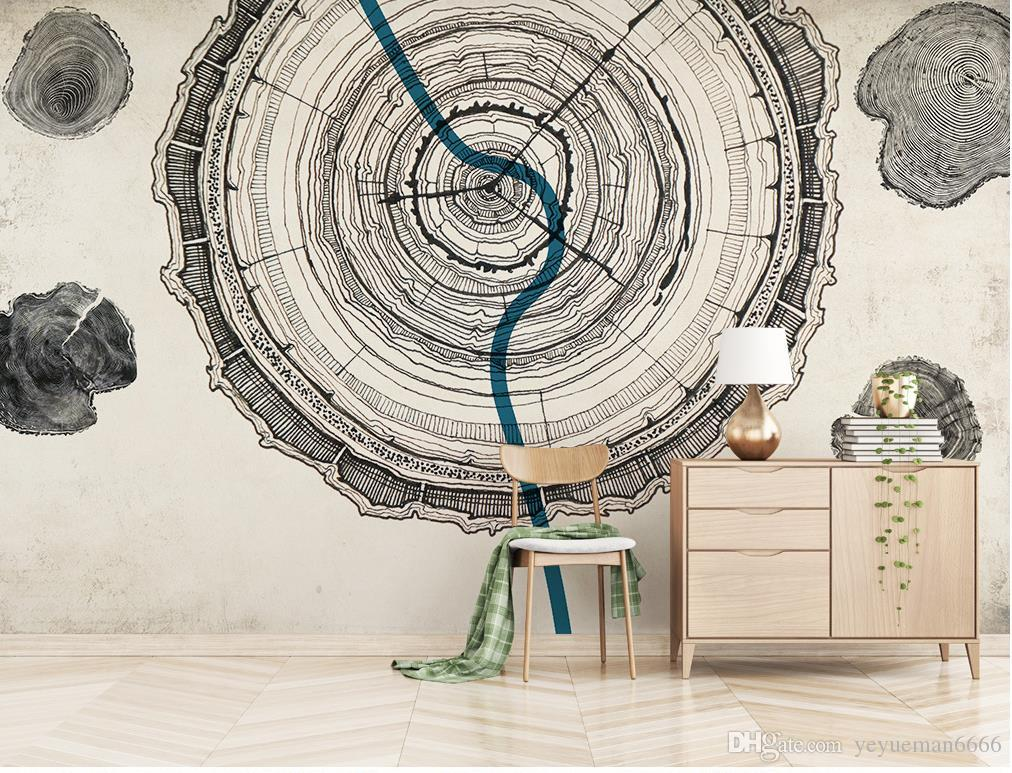 Simple Modern customize Wall papers Home Decor Wood texture 3D Mural Wallpaper Nonwovens Living room Backdrop