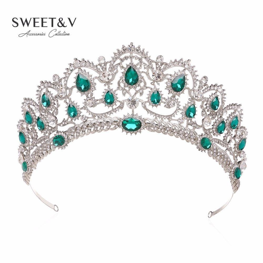 2019 Luxury Crystal Crown Wedding Tiara Princess Party Hats Bridal Head Jewelry  Pageant Prom Women Hair Accessories W  Gems From Whatless d6ac40c12ab4
