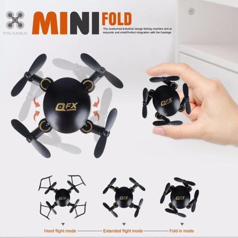 QFX MINI Drone Q2 Özçekim RC Helikopter Uçağı Profesyonel Nano Katlanabilir Cep Drone Mini Wifi ile FPV Hava Kamera