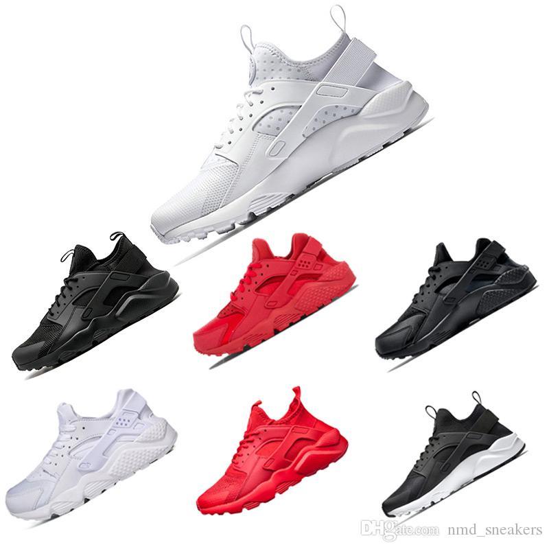 Nike air Huarache 4.0 1.0 Clásico Triple Blanco Negro rojo hombres mujeres Huarache Zapatos Huaraches zapatillas de deporte Zapatillas de running