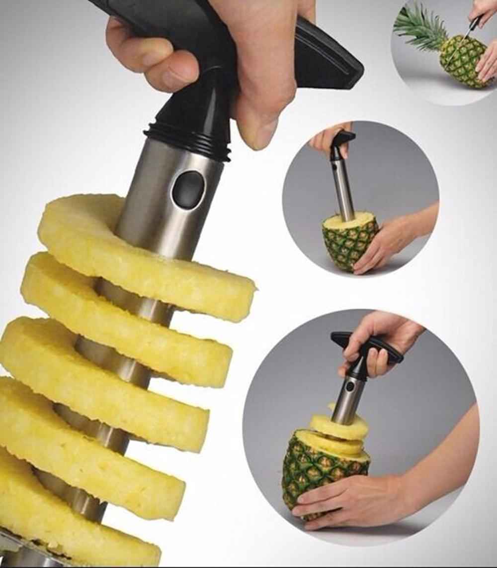 Stainless Steel Pineapple Peeler Cutter Slicer Corer Peel Core Tools Fruit Vegetable Knife Easy Gadget Kitchen Spiralizer AAA191