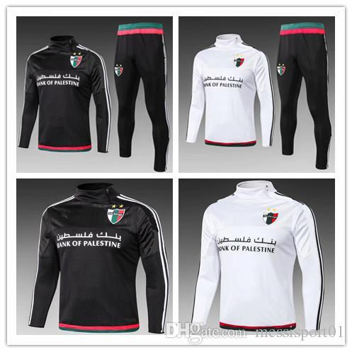 2019 2018 Palestino Soccer Tracksuits Kits Palestine Football Survetement  Chandal Top Quality 18 19 Palestine Football Training Suit From Shellyzhs e44431bf0