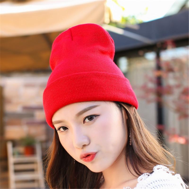 ae52263124679e Hat Female Unisex Coon Solid Warm Soft Hot HIP HOP Women's Knied Winter Hats  For Men Women Caps Skullies Beanies Wholesale