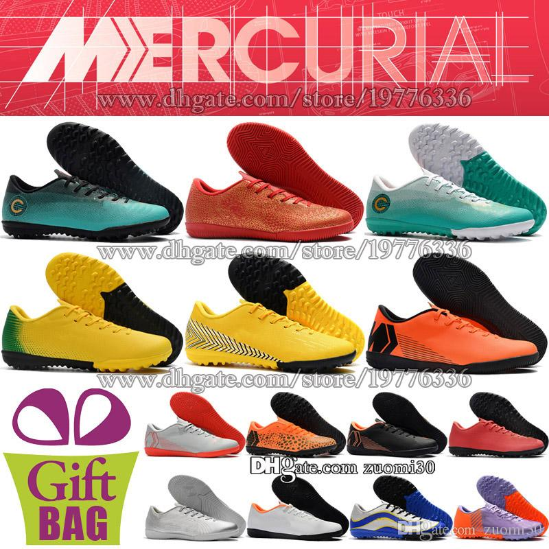 c6066d1b42c New CR7 Soccer Cleats Indoor Mercurial VaporX XII Club IC TF Soccer ...