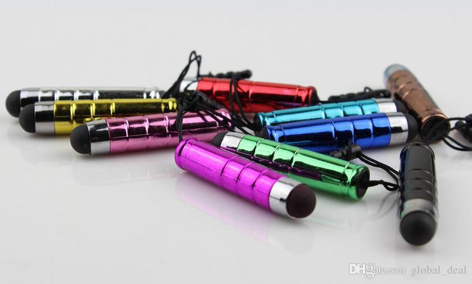 11 Farben Universal Mini Stylus Touchscreen Stift mit Anti-Staub-Stecker für ipad iphone Samsung Blackberry Kapazität Bildschirm Telefon Tablet PC