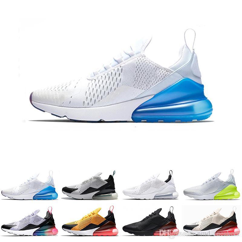 f5c4036dbe0 Compre Nike Air Max 270 Treinador Esportes Tênis De Corrida Das Mulheres  Dos Homens BETRUE Bruce Lee Branco VOL TEA BAGA Osso ÓCULOS Oreo 270 S Tênis  ...