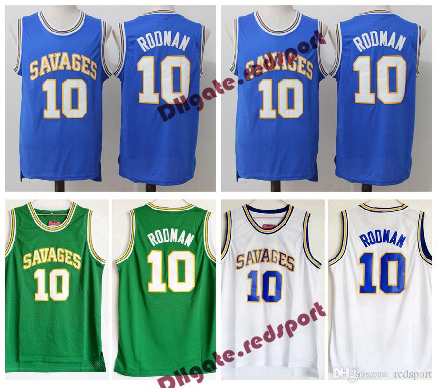 Mens Oklahoma Savages Dennis Rodman College Basketball Jersey 10 Dennis  Rodman University Basketball Shirts Stitched Jerseys Dennis Rodman College  Jersey ... 3a985aa1e