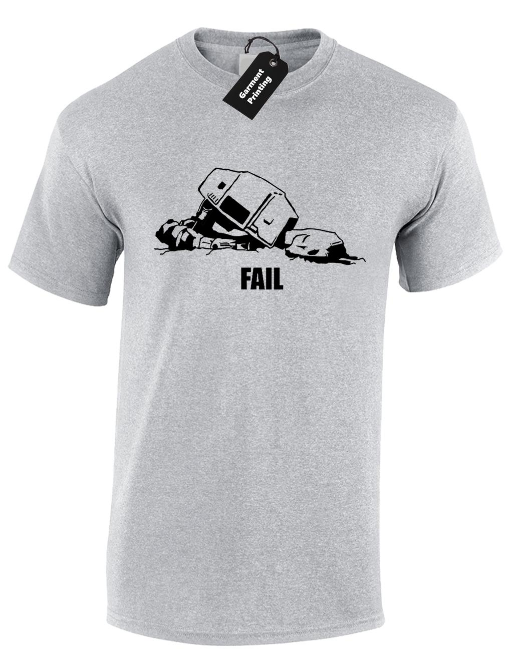 AT-AT FAIL MENS T SHIRT STAR TROOPER STORM WARS DARTH YODA VADER 3XL 4XL 5XL NEW Short Sleeve Plus Size t-shirt