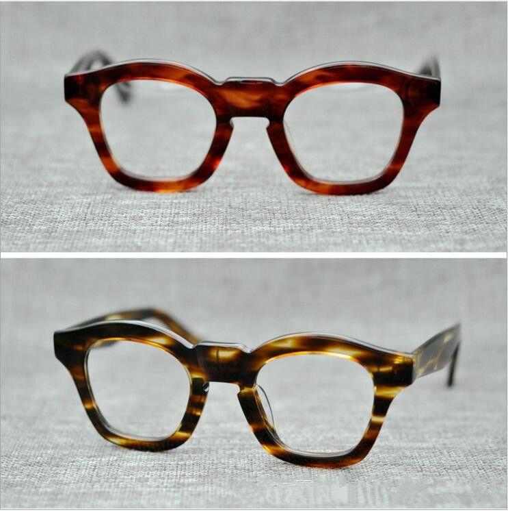 Brand 2018 Brand design THE MASK eyewear johnny depp occhiali montatura occhiali di alta qualità con montatura rotonda con rivetto a freccia