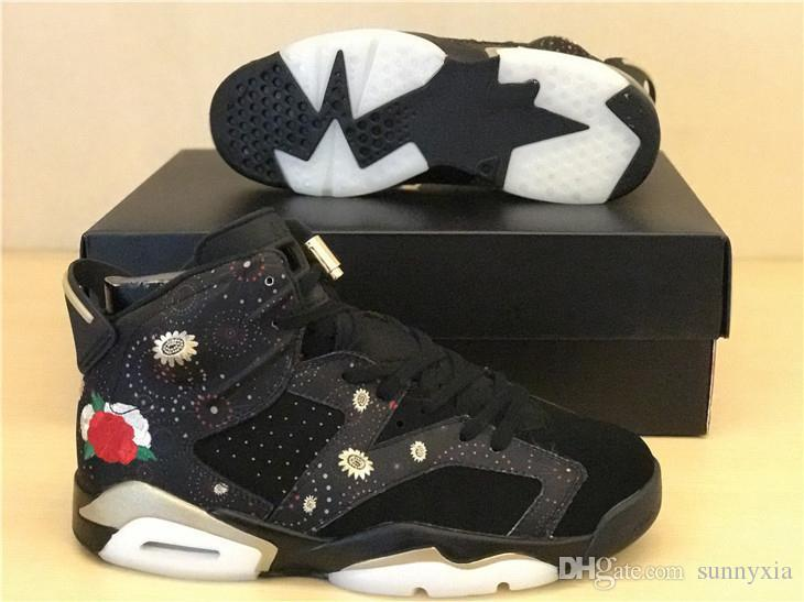 b34929ca333c03 2019 Retro 6 CNY Chinese New Year Or Metallique Men Basketball Shoes Best  Quality Wholesale Discount Air 6 Size Eur 41 47 From Sunnyxia