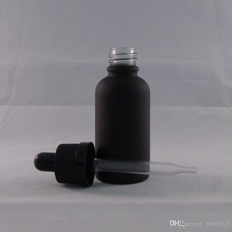 5ml 10ml 15ml 20ml 30ml 50ml 100ml 120ml Contagocce di vetro Bottiglia E liquido Bottiglie con tappo anti-manomissione bambini Ever Cap nero opaco