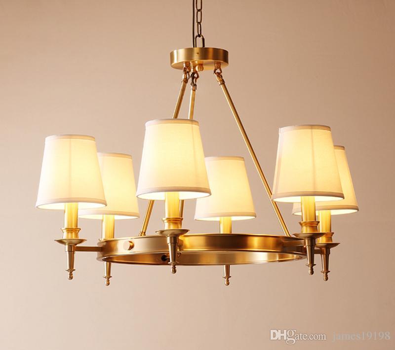 Suspendu Led Luminaires Foyer Lustres Éclairage Cuivre 368 Têtes Américain F092 À Lustre Rétro Salle Manger Lampe RcLq54Aj3