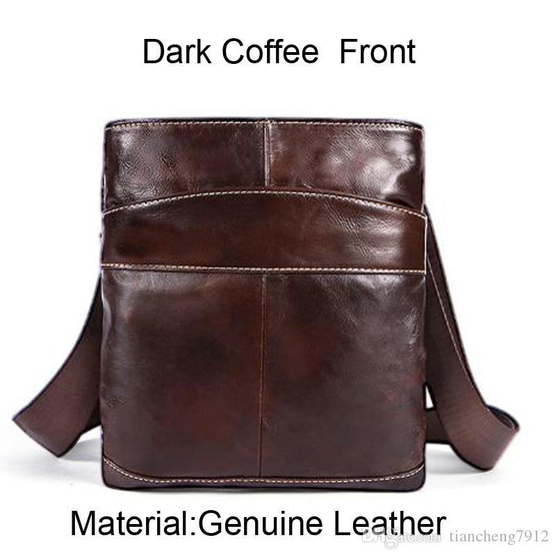 178a757b4edc Mens Leather Shoulder Bags Hot Sale Men Genuine Feather Business Dark  Coffee Black Shoulder Crossbody Bags 703 Italian Leather Handbags Luxury  Handbags From ...