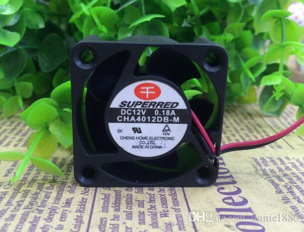 Orijinal SUPERRED 40 * 40 * 20 CHA4012DB-M DC12V 0.18A 2 telli eksenel akış soğutma fanı
