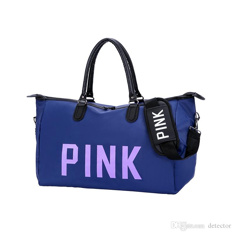 New Pink Letter Sequin Duffle Bags Women Handbag Large Capacity Waterproof  Outdoor Travel Sports Beach Shoulder Bags Tote Shopping Bag Sell Makeup  Train ... c205f821ec