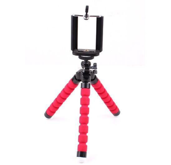 Mini flexível Titular Camera Phone Flexível Octopus Tripé Bracket Stand Holder Mount monopé para iphone 6 7 8 mais smartphones